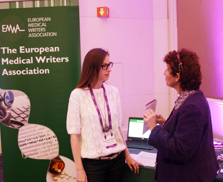 Barbara Grossman at the EMWA stand